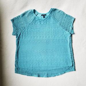 PLUS SIZE Chaps Lace Overlay Blouse Size 2x